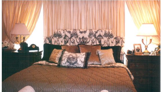 Custom Bedding, Pillows, & Headboard