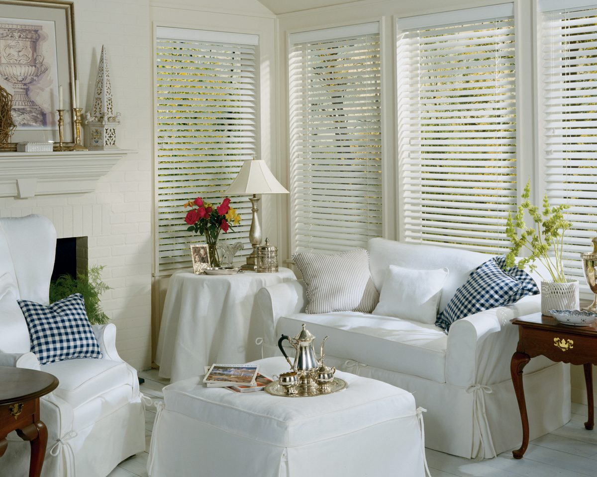EverWood® Alternative Wood Blinds in Den