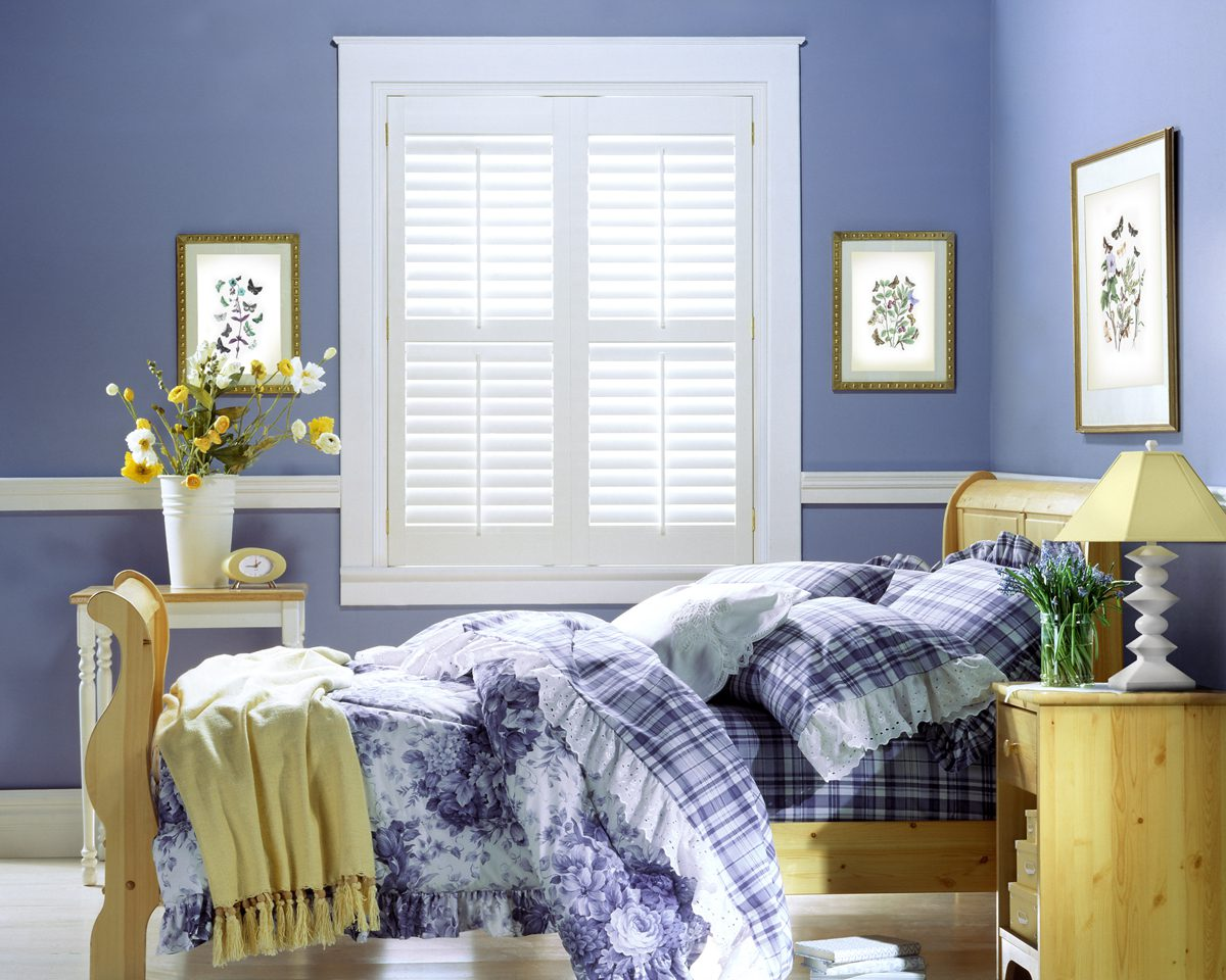 NewStyle® Hybrid Shutters in Bedroom