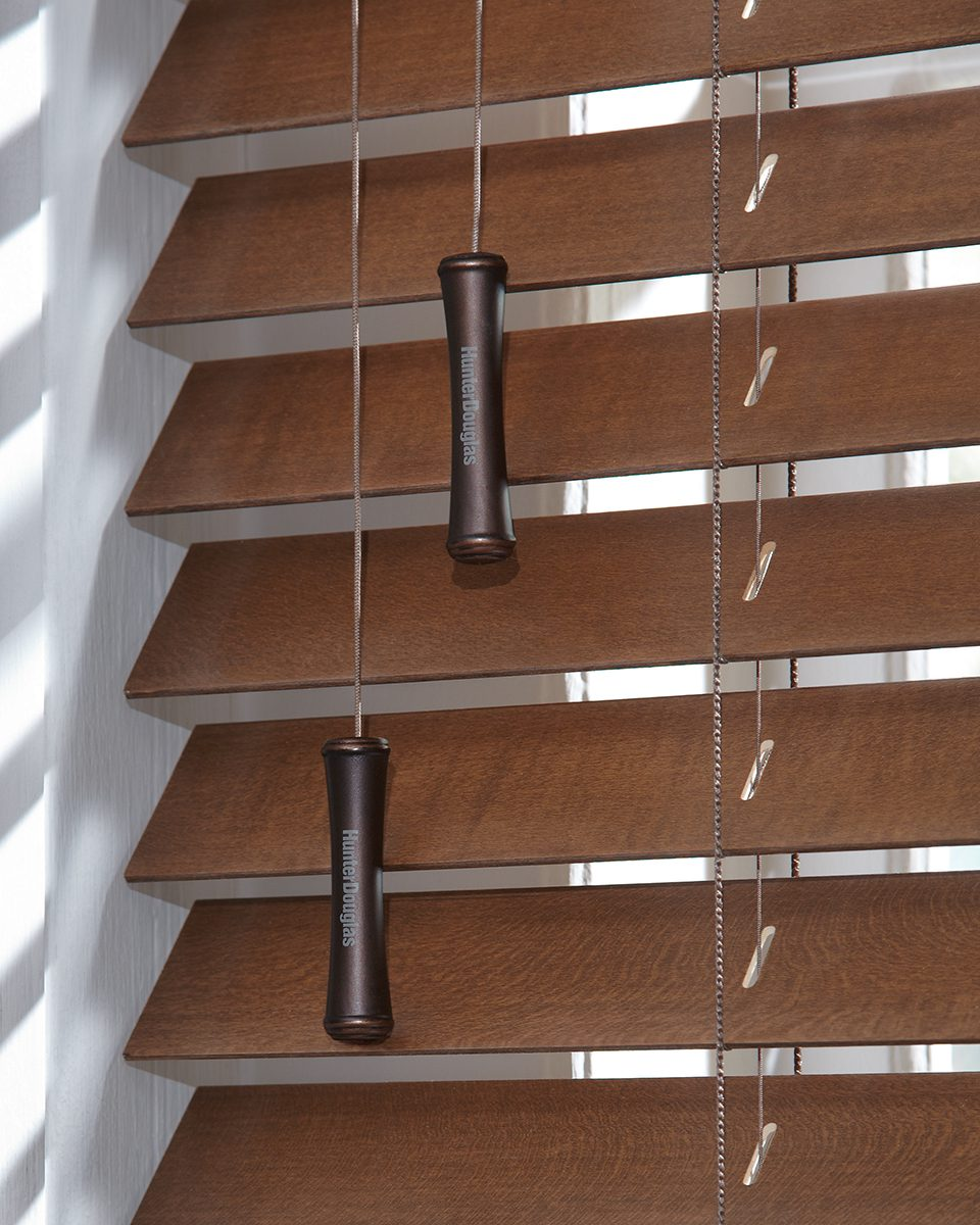 Parkland® Wood Blinds Tilted