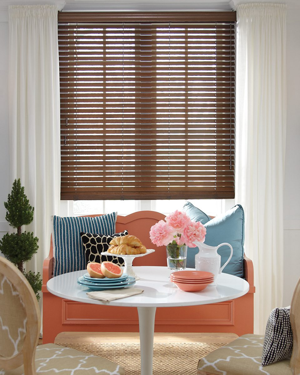 Parkland® Wood Blinds with Ultraglide in Dining Room