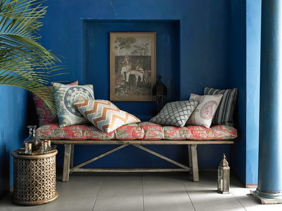 Reupholstered Cushions & Pillows - Courtesy of Kravet
