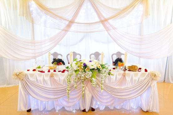 Wedding Banquet Table at a Restaurant