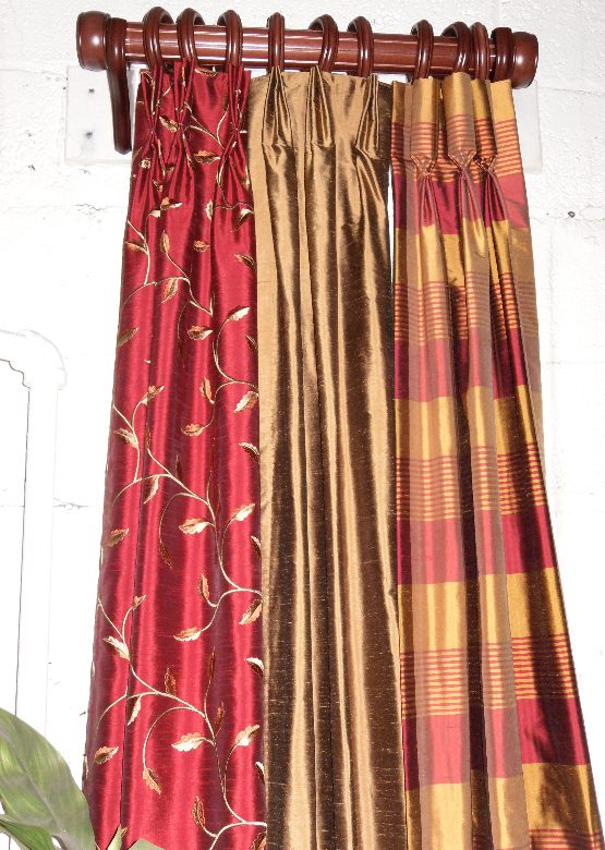 Curtain Panels - Pinch Pleat and Goblet Pleat