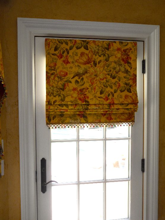 Flat Roman Shade With Trim Curtains Boutique