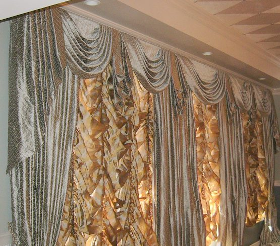 Formal Pleated Swags and Jabots, Panels, and Austrian Shades