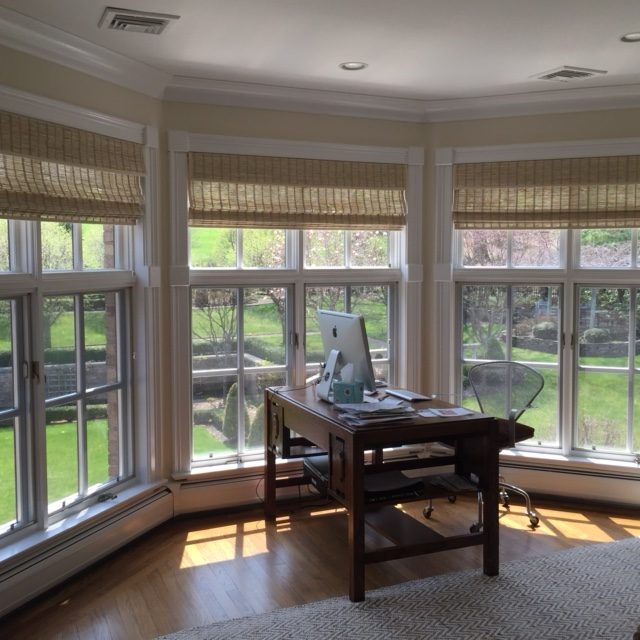 Provenance® Woven Wood Shades in Home Office