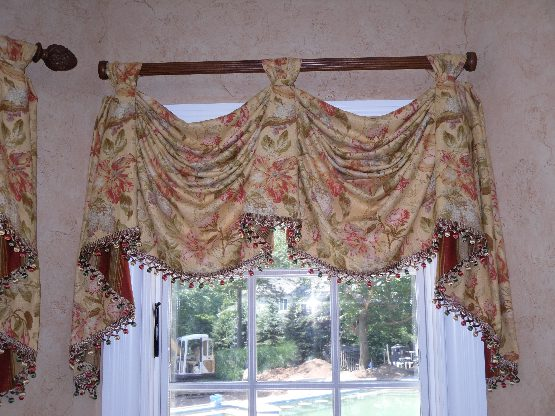 Pole Kingston Valance with Beaded Trim
