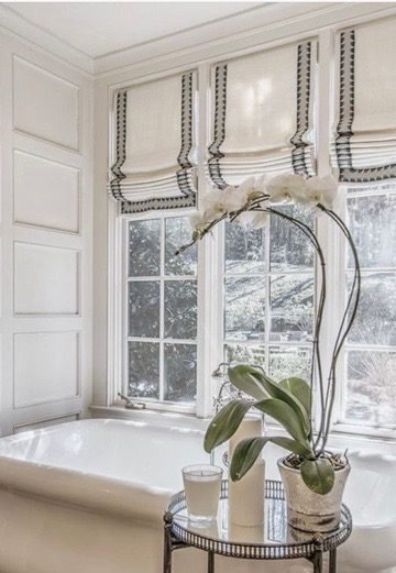 Roman Shades In Bathroom