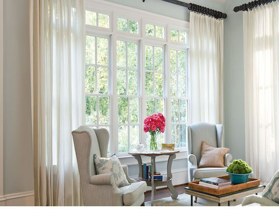 Sheer Curtains in Sitting Room