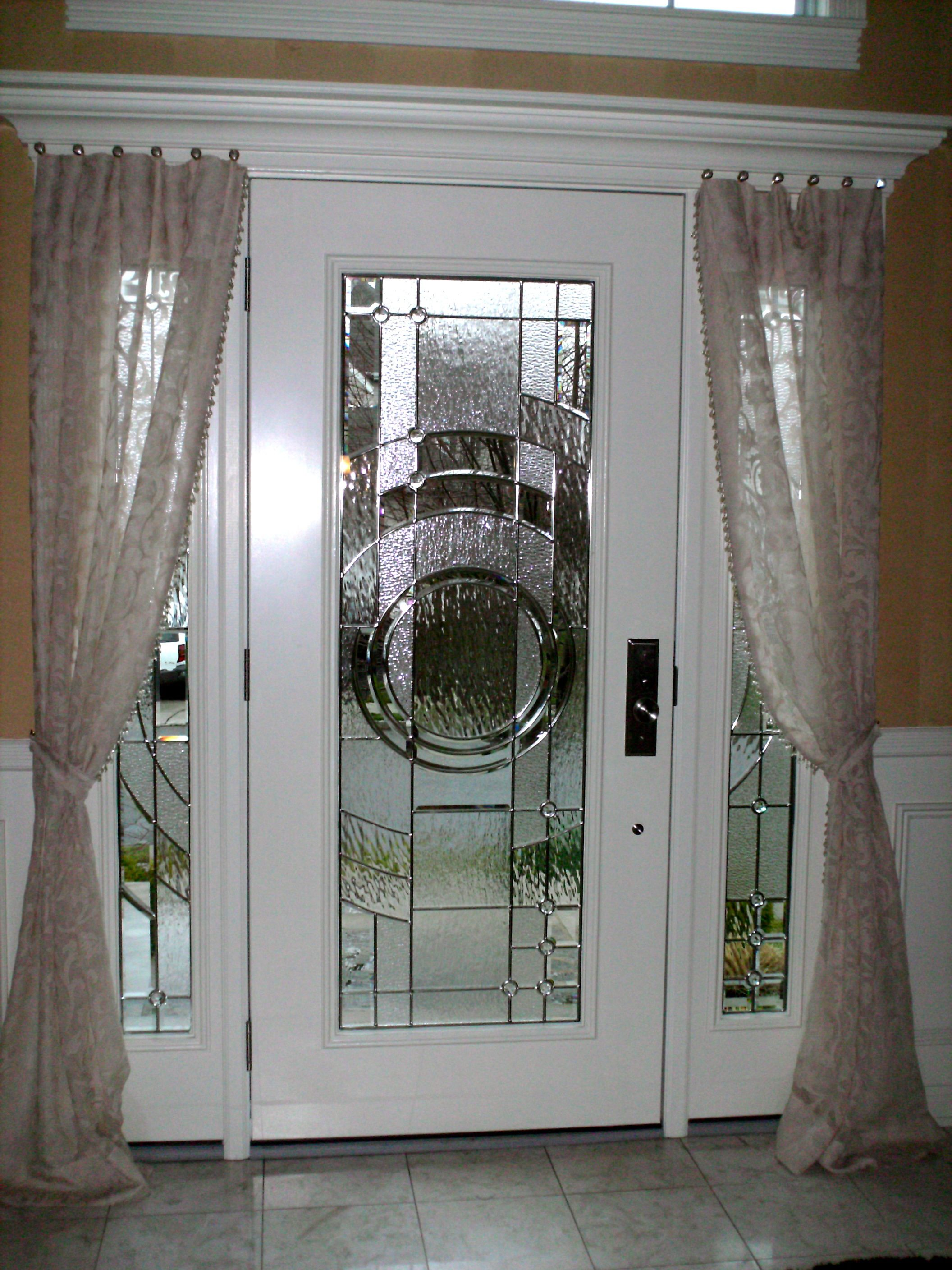 Sheer Panels on Entry Door