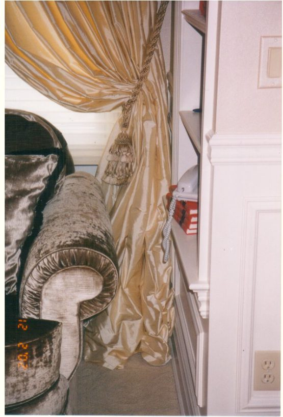 Silk Drapery Panel
