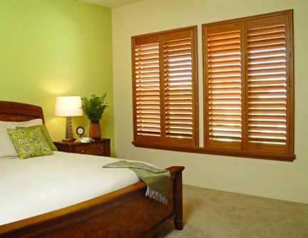Normandy® Hardwood Shutters Featuring Phoenix Wood® & Invisible Tilt