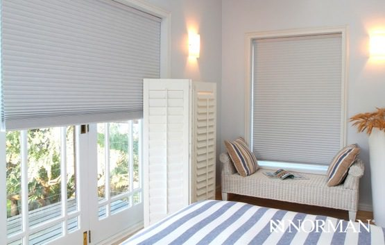Portrait™ Cordless Honeycomb Cellular Shades with Continuous Cord Loop and Single Cell Room Darkening Fabric