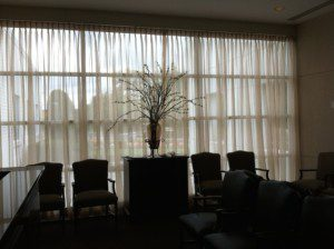 Sheer Panels in Doctor's Office Reception Area