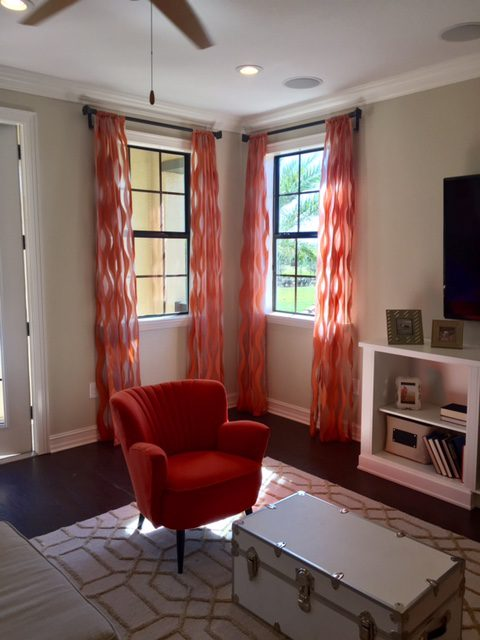 Colorful Sheer Drapery Panels