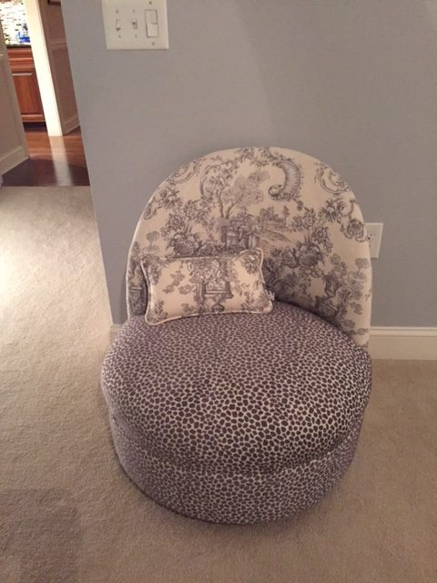 Reupholstered Boudoir Chair