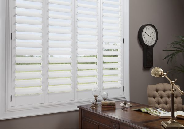 NewStyle® Hybrid Plantation-Style Shutters in Office