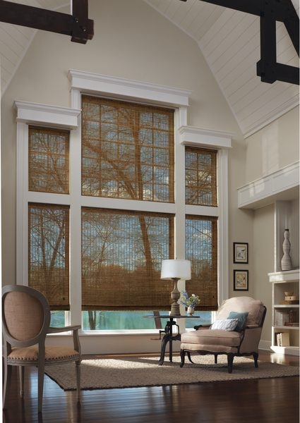 Provenance® Woven Woods Shades in Living Room