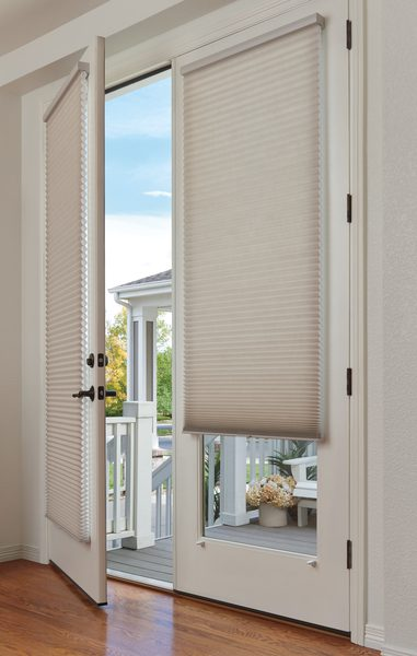 Duette® Honeycomb Shades on French Doors