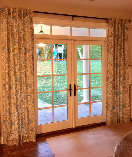 Drapery Panels in Family Room