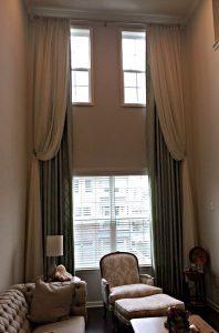 Drapery Panels on High Window