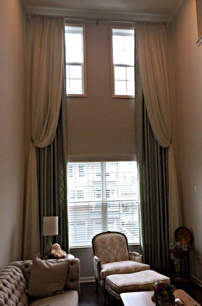 Drapery Panels on High Window