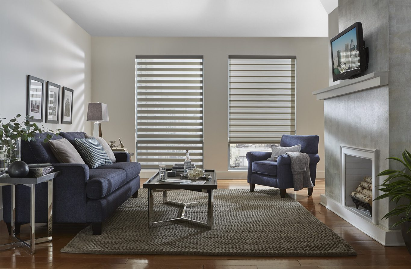 Alta Dual Shade in Family Room