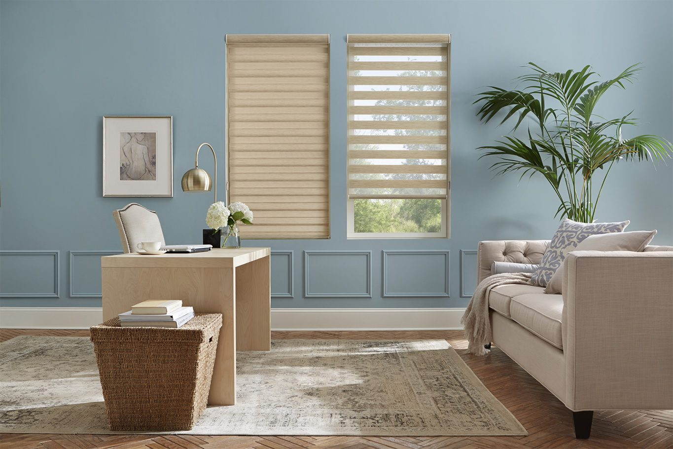 Alta Dual Shade in Sitting Room
