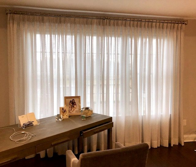 Drapery Sheers in Master Bedroom - Curtains Boutique