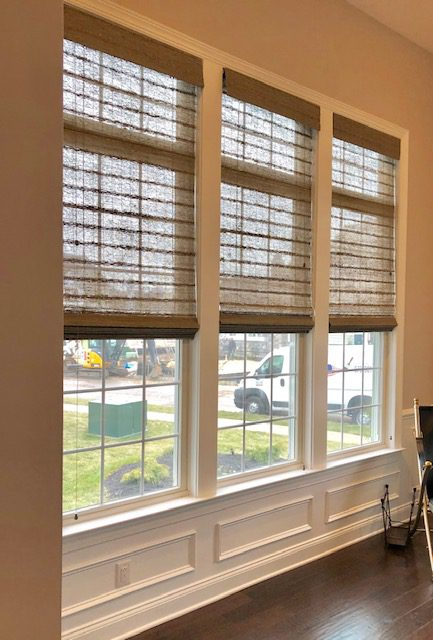 Hunter Douglas Provenance Woven Wood Shades In Office