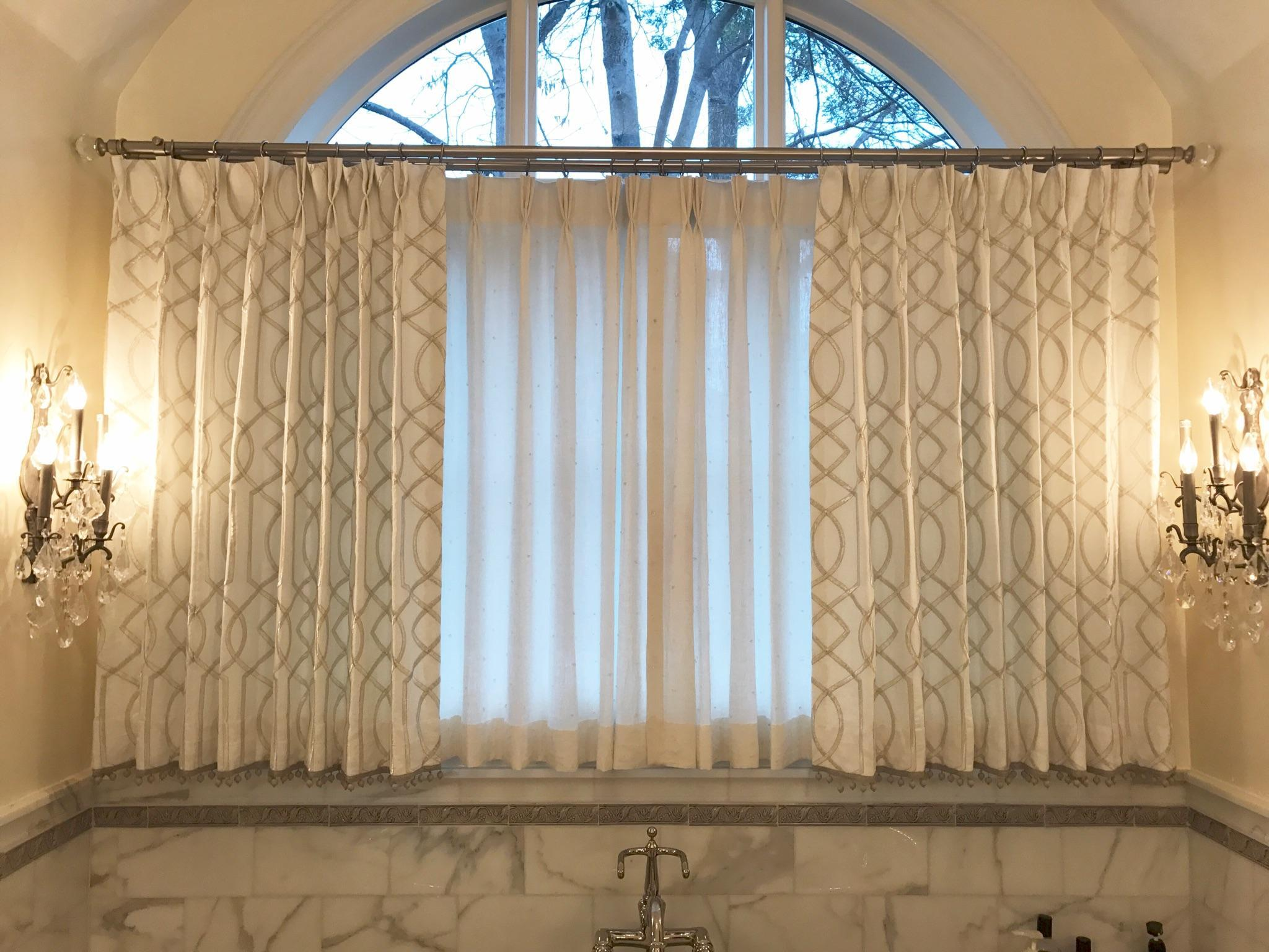 Drapes & Sheers in Master Bathroom